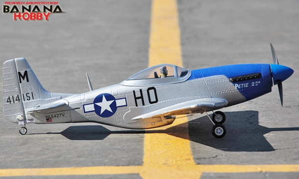 FMS 4 CH Blue Mini P 51D RC Warbird Airplane Parts