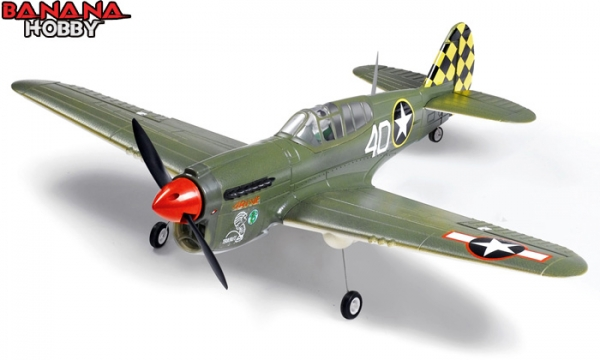 FMS 4 CH Green Mini P 40 Warhawk RC Warbird Airplane Parts