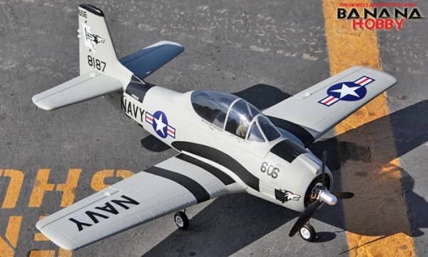 FMS 4 CH Grey Mini T 28 Trojan RC Warbird Airplane Parts