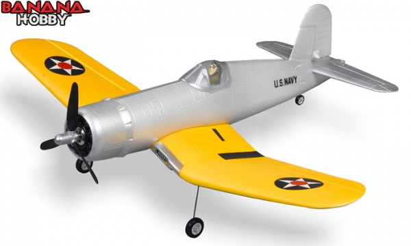FMS 4 CH Yellow Mini F4U Corsair RC Warbird Airplane Parts