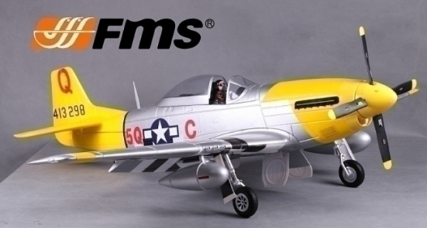 FMS 6 CH Giant Marie P51 D V7 RC Warbird Airplane Parts