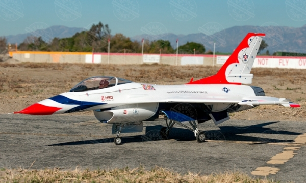 HSD 7 CH Thunderbirds Special Edition F 16 Fighting Falcon 105mm RC EDF Jet Parts