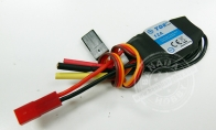 12A Brushless ESC for TopRC 4 CH Yellow Mini P-51D RC Warbird Airplane