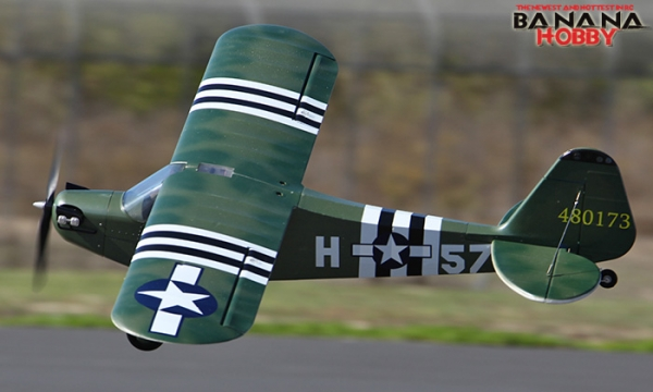 4 CH BlitzRCWorks Green Giant J-3 Cub RC Trainer Airplane