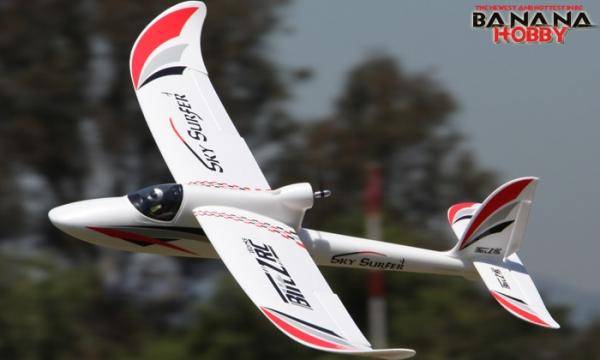 4 Ch Blitzrcworks Sky Surfer Rc Trainer Airplane Radio