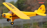 4 CH BlitzRCWorks Yellow Giant J-3 Cub RC Trainer Airplane ARF