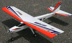 4 CH TechOne Red Saturn 1230mm RC Trainer Airplane RTF