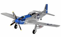 4 CH TopRC Blue Mini P-51D RC Warbird Airplane ARF