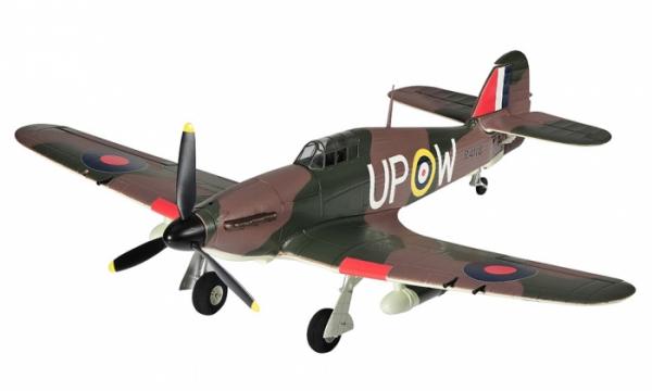 4 CH TopRC Brown Mini Hurricane RC Warbird Airplane - Radio