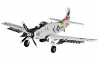 4 CH TopRC Gray Mini A1 Skyraider RC Warbird Airplane ARF