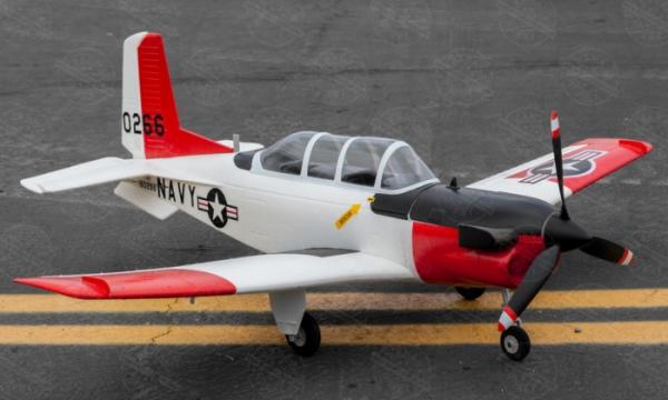 4 Ch Toprc Red Mini T 34 Mentor Rc Warbird Airplane