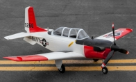 4 CH TopRC Red Mini T-34 Mentor RC Warbird Airplane ARF