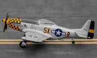 4 CH TopRC Yellow Mini P-51D RC Warbird Airplane ARF