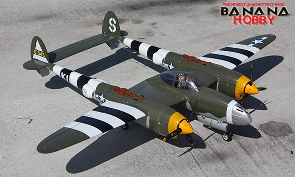 5 Ch Blitzrcworks California Cutie P 38 Lightning V2 Rc