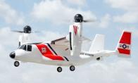 5 CH BlitzRCWorks Coast Guard VTOL V-22 Osprey RC Warbird Airplane RTF