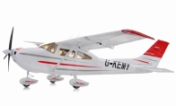 5 CH BlitzRCWorks Red Sky Trainer G-Kemy w/ Flaps RC Trainer Airplane PNP