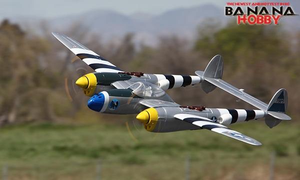 5 CH BlitzRCWorks Silver P-38 Lightning V2 RC Warbird Airplane