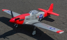 5 CH Sky Flight Hobby Red P-51D Mustang 1200mm RC Warbird Airplane ARF