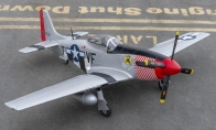 6 CH BlitzRCWorks Red 1150mm P-51D Mustang RC Warbird Airplane ARF