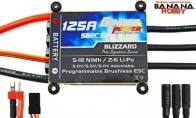 Genesis Power Blizzard Series 125A Programmable Brushless ESC w/ SBEC 5A