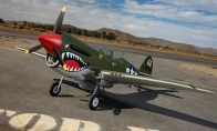 7 CH BlitzRCWorks Green 1100mm P-40 Warhawk RC Warbird Airplane PNP