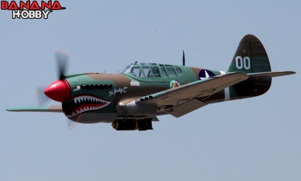 8 CH BlitzRCWorks Camo Super P-40E Warhawk RC Warbird Airplane