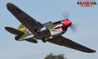 8 CH BlitzRCWorks Green Super P-40E Warhawk RC Warbird Airplane ARF