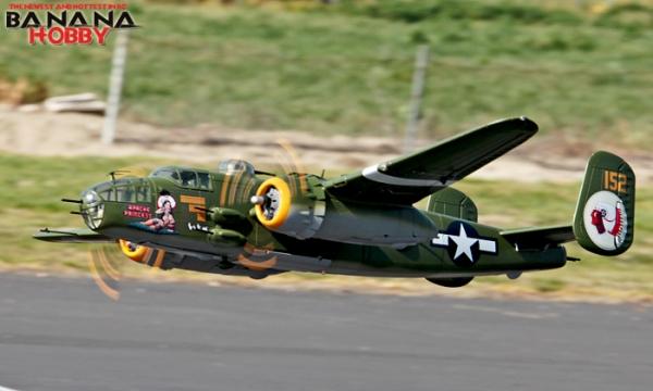 8 CH BlitzRCWorks Super B-25 Mitchell Bomber RC Warbird Airplane