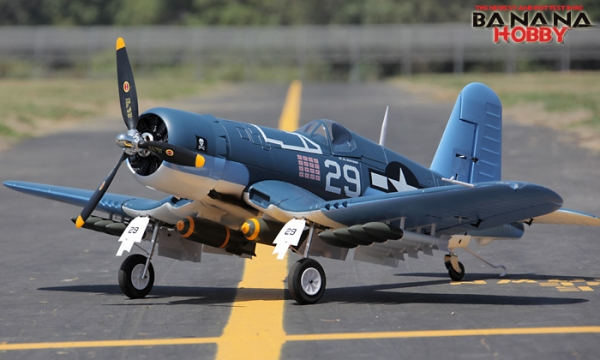 8 CH BlitzRCWorks Super F4U Corsair V2 RC Warbird Airplane - Radio