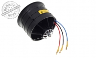 8S 1100KV Brushless Outrunner Motor with 105mm EDF (Assembled and Balanced) for HSD 6 CH Gold Super Viper 105mm RC EDF Jet