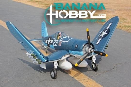 9 CH BlitzRCWorks F4U Corsair RC Warbird Airplane - Radio Controlled