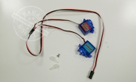 9g Positive + 9g Reverse Servo (L:120mm+400mm) for Elevator for HSDJETS 4 CH Red Checker Viper 75mm RC EDF Jet