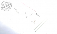 Accessory parts pack for BlitzRCWorks 5 CH Super Sky Surfer RC Sailplane Glider