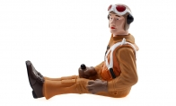 BlitzRCWorks 1:10 Full Body Scaled WW2 Pilot Figure for HSDJETS 4 CH Green Mini P51-D Mustang V2 RC Warbird Airplane