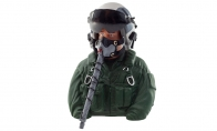 BlitzRCWorks 1:6 Green Highly Detailed Bust Scaled Jet Pilot Figure