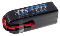 BlitzRCWorks 22.2V 4000mAh 25C (Dean's connector) LiPo Battery for HSDJETS 6 CH Red Checker Viper Pro 90mm RC EDF Jet