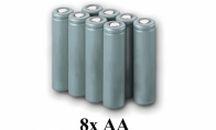 BlitzRCWorks AA Battery x 8pcs for BlitzRCWorks 3 CH Grey Mini F9F Panther V2 w/ Gyro RC EDF Jet