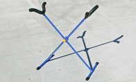 BlitzRCWorks Blue Aluminum CNC Model Airplane Stand(Blue Anodized) for BlitzRCWorks 4 CH Sky Eagle RC Sailplane Glider