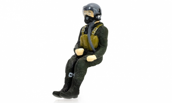 BlitzRCWorks Full Body Scaled Jet Pilot Figure for HSD | Air Epic 4 CH F-22 Raptor RC EDF Jet