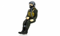 BlitzRCWorks Full Body Scaled Jet Pilot Figure for HSD 6 CH Gray Oversize A1 Skyraider V2 RC Warbird Airplane