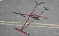 BlitzRCWorks Red Aluminum CNC Model Airplane Stand(Red Anodized) for Taft Hobby 4 CH Super Dimona RC Sailplane Glider