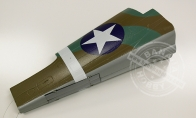 Camo Rear Fuselage with Tail Gear and Retract Door (Decal Applied) for BlitzRCWorks 8 CH Camo Super P-40E Warhawk RC Warbird Airplane