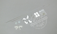 Control Rods, Plastic Parts and Screws for BlitzRCWorks 3 CH Mini Messerschmitt Me-262 w/ Gyro RC EDF Jet