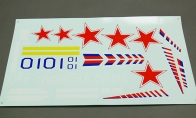 Decal Sheet for BlitzRCWorks 8 CH Sukhoi Su-47 Berkut V2 RC EDF Jet