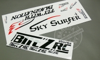 Decal Sticker (Part A) for BlitzRCWorks 5 CH Super Sky Surfer RC Sailplane Glider