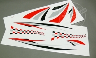 Decal Sticker (Part B) for BlitzRCWorks 5 CH Super Sky Surfer RC Sailplane Glider