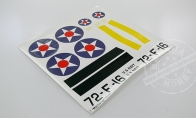 Decals for Yellow F4F for BlitzRCWorks 8 CH F4F Wildcat RC Warbird Airplane