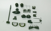 Decorate Plastic Parts for BlitzRCWorks 8 CH Super B-25 Mitchell Bomber RC Warbird Airplane