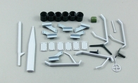 Decorating Parts, Vector, and Horns for BlitzRCWorks 8 CH Camo Super P-40E Warhawk RC Warbird Airplane