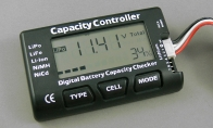 Digital Battery Capacity Checker Tester for Li-Po/LiFe/Li-ion/NiMH/NiCd Batteries for HSDJETS 4 CH Zazzy RC Sport Airplane